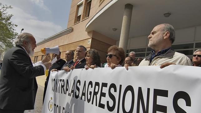 Una de las manifestaciones del Colegio de Médicos de Sevilla contra las agresiones