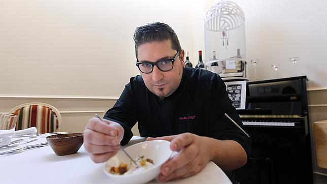 Periko Ortega, en su restaurante Re-Comiendo