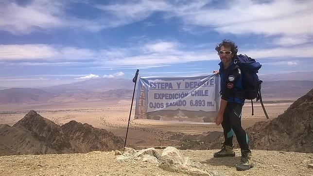 José León en un volcán chileno a 7.000 metros de altitud