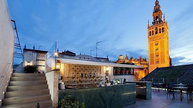 La terraza del Hotel Doña María, otro de los lugares emblemáticos