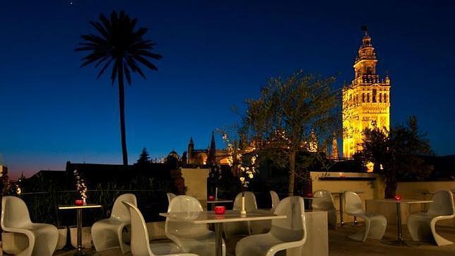 Una de las vistas desde la terraza panorámica del Hotel Palacio Alcázar