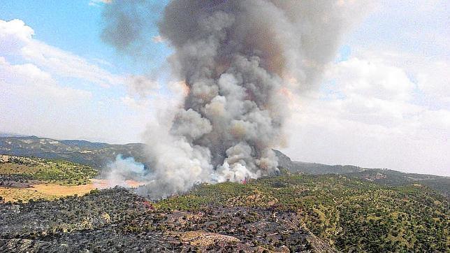 El fuego se declaró el pasado día 5 en el término municipal de Quesada