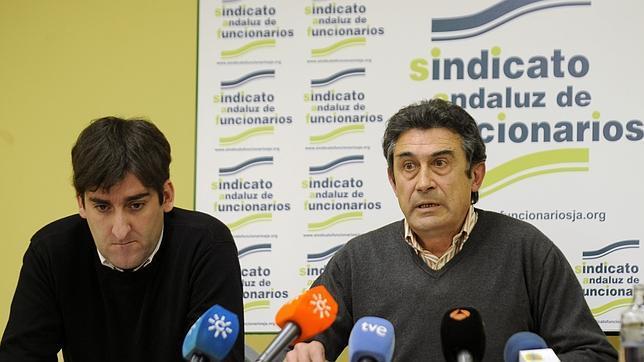 José Manuel Mateo (derecha) presidente del sindicato SAF