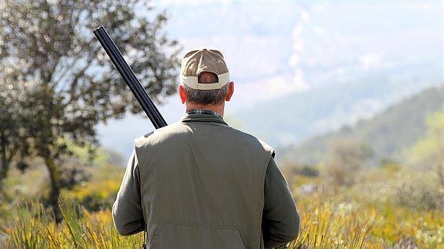 Un cazador observa el campo