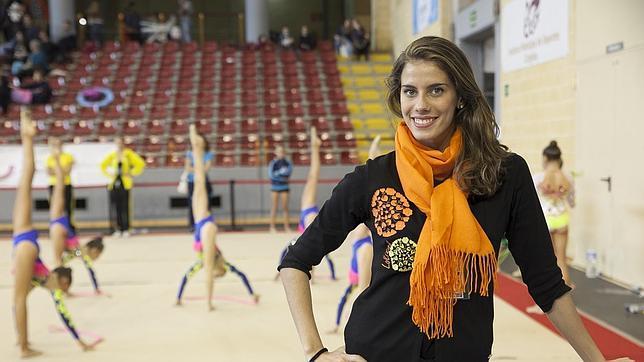 Lourdes Mohedano, en el Palacio de Deportes Vista Alegre