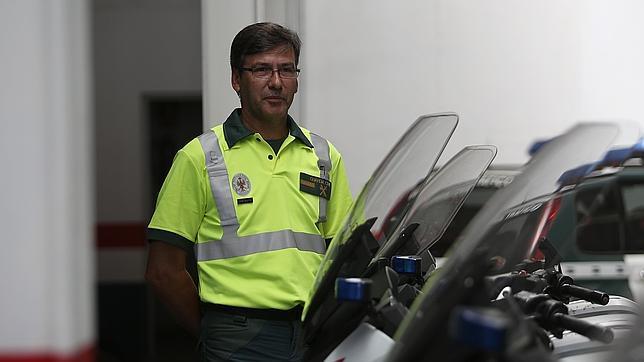 Fernando Vera, ayer en la Comandancia de la Guardia Civil de Tráfico de Montequinto