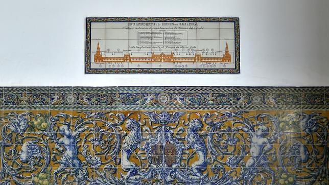 Azulejos restaurados de la Plaza de España