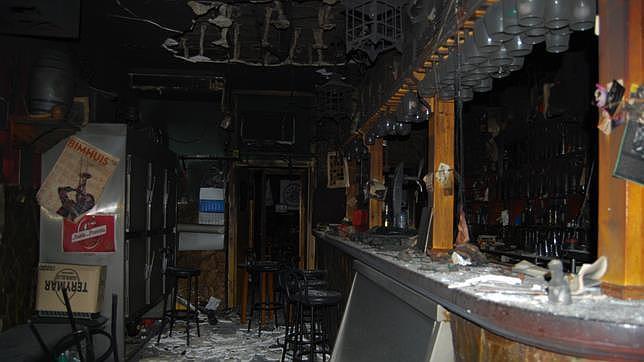 Estado en el que ha quedado el local tras el fuego