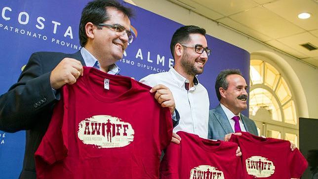 Rodríguez, Díaz y Valdivia, durante la presentación del festival
