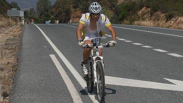El deportista Kiko Lozano en la edición de su primer Reto Solidario