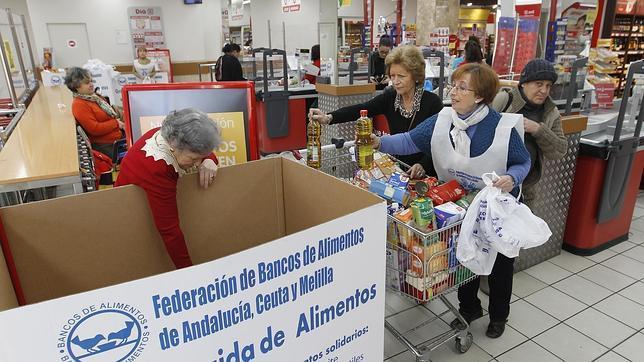 Voluntarios para la gran recogida de alimentos