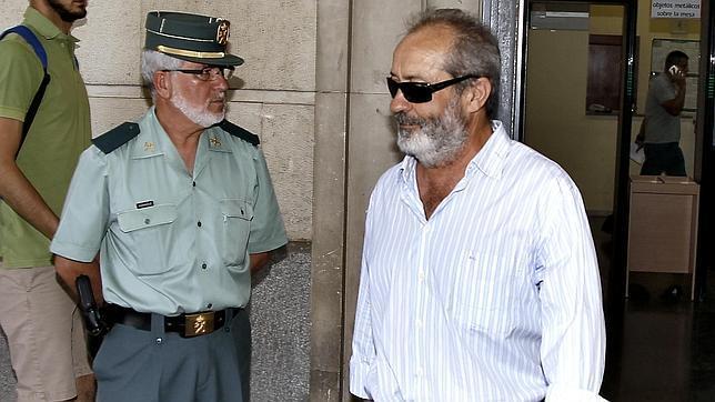 El conseguidor de los ERE, Juan Lanzas, en una visita reciente a los juzgados de Sevilla