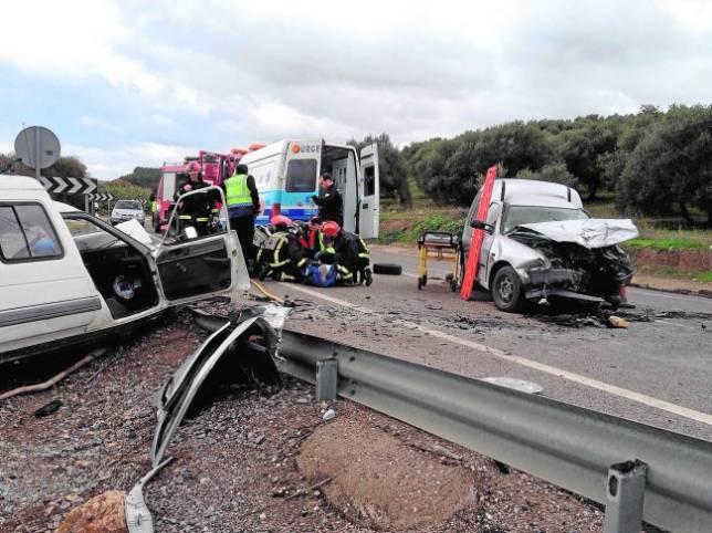 Estado en que quedaron los vehículos que chocaron en el accidente