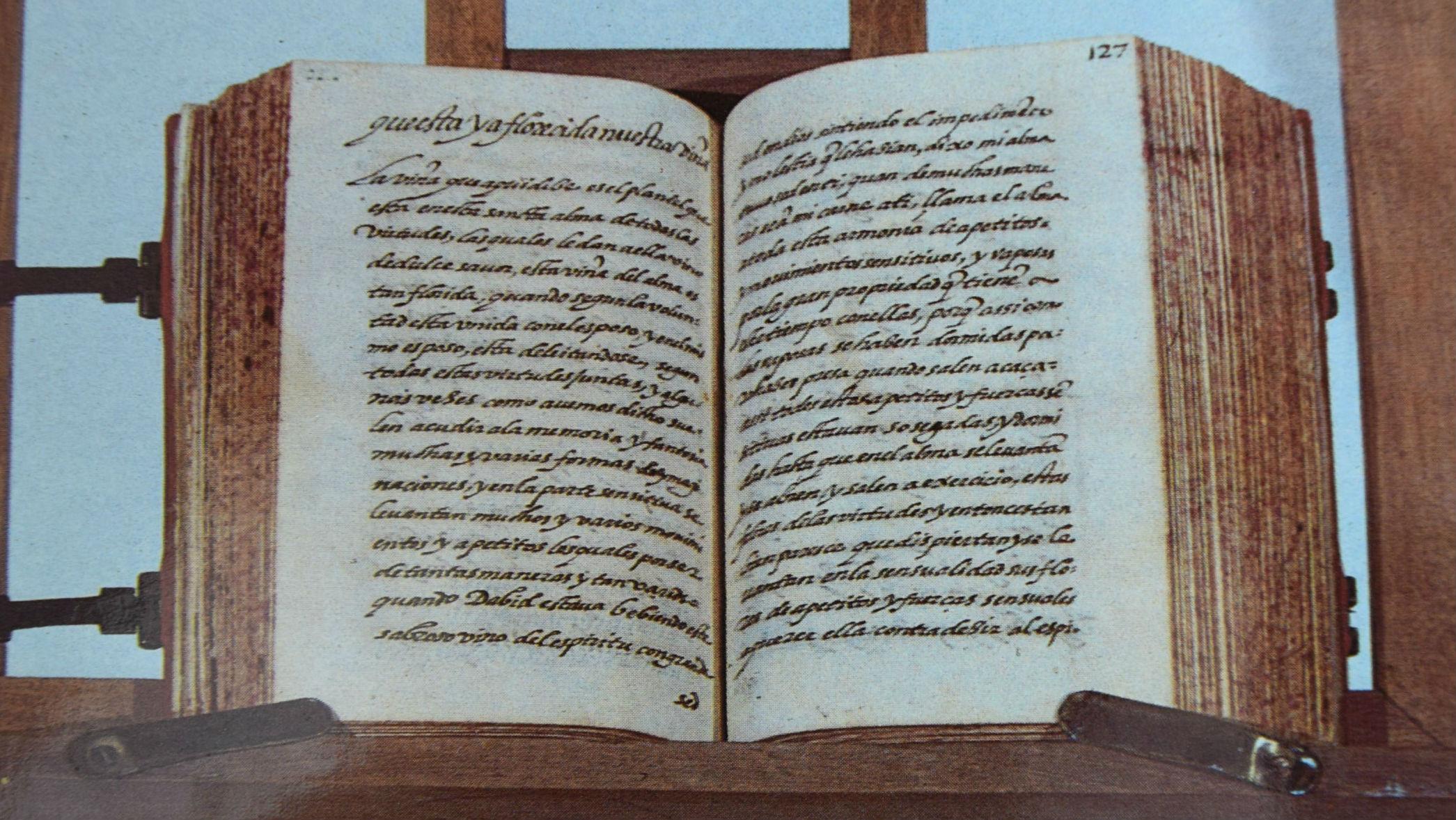 Manuscrito del Cántico Espiritual que se encuentra en el convento de las carmelitas descalzas de Jaén