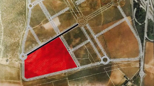 Plano de la parcela donde se levantará la fábrica / ABC