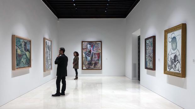 Una de las salas iluminadas de «Pablo Picasso. Nueva Colección»