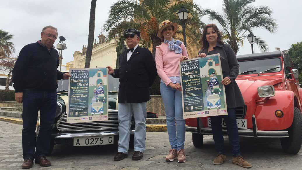 Utrera celebra por segundo año un evento dedicado a los vehículos clásicos