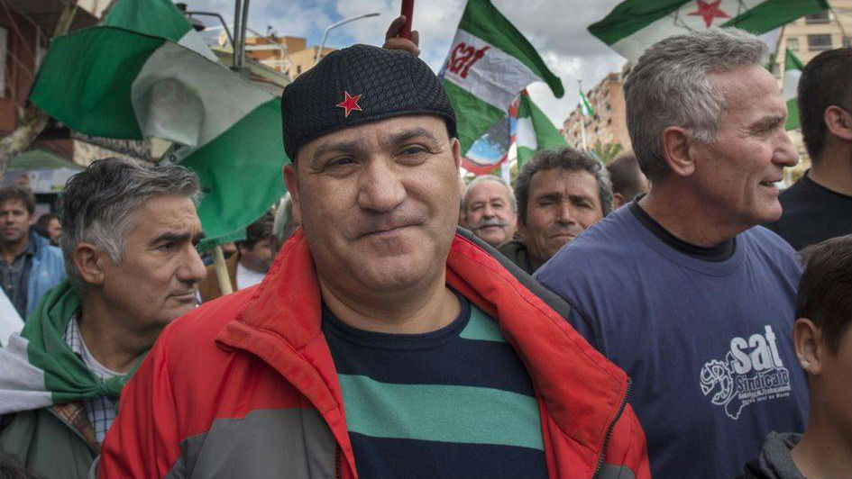 Andrés Bódalo, durante una manifestación.