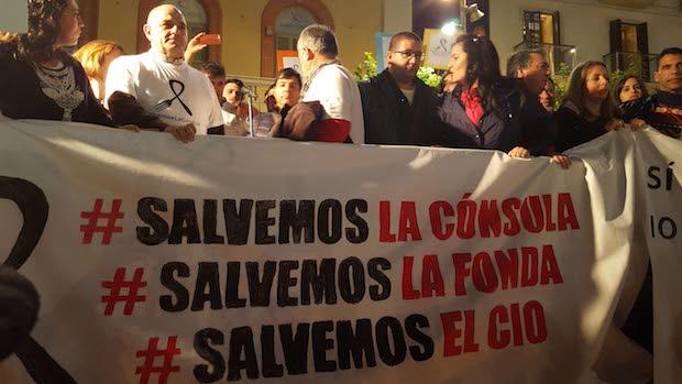 Manifestación en favor de las escuela de hostelería malagueñas / Diario Sur