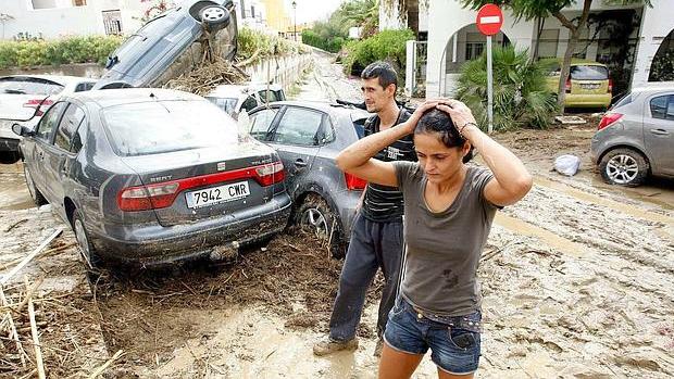 Imagen de los destrozos del temporal que azotó Almería en 2012