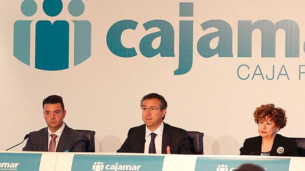El presidente de Cajamar, Eduardo Baamonde durante la Asamblea General./ ABC