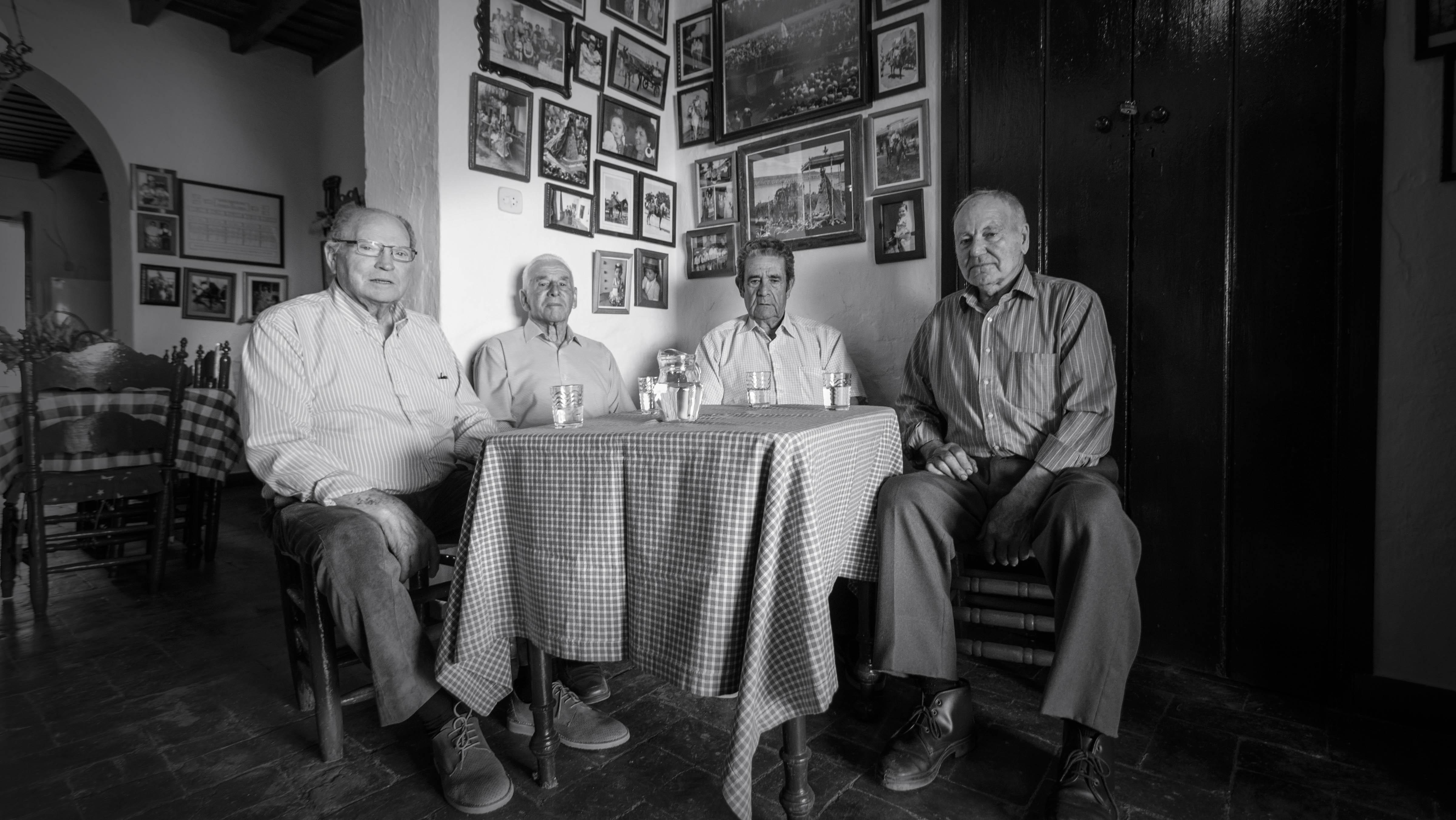 De izquierda a derecha, Rafael Contreras, Antonio Pérez, Antonio Díaz y Antonio Barragán