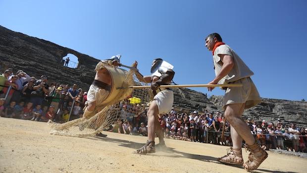Una exhibición en el anfiteatro romano
