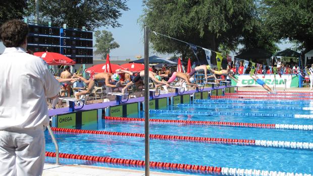 Las bases de la nataci n y el waterpolo andaluz miden sus for Piscina dos hermanas
