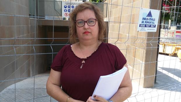Carmen Espada en la residencia de Dos Hermanas en obras / ABC