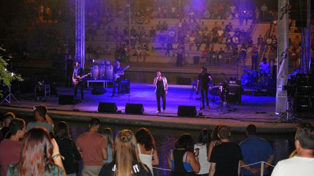 Un momento del concierto de Los Aslándticos