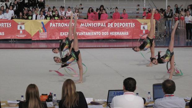 Jóvenes deportistas en una competición federada celebrada en Dos Hermanas