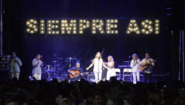 Siempre Así en el concierto de Marbella