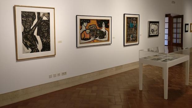 Una de las salas de exposición de Miguel Herrero en Marbella