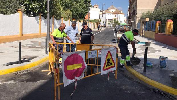 La calle Real Utrera, remodelada tras las obras / ABC