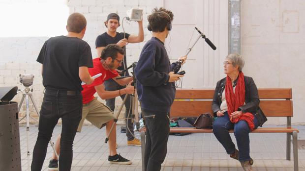 Rodaje de un cortometraje de la primera edición