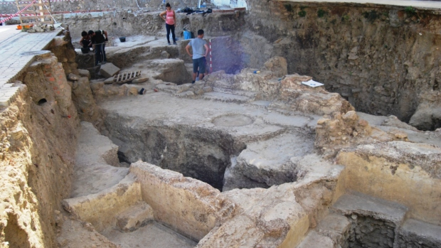La excavación ha permitido sacar a la luz unas termas públicas con cinco piscinaS