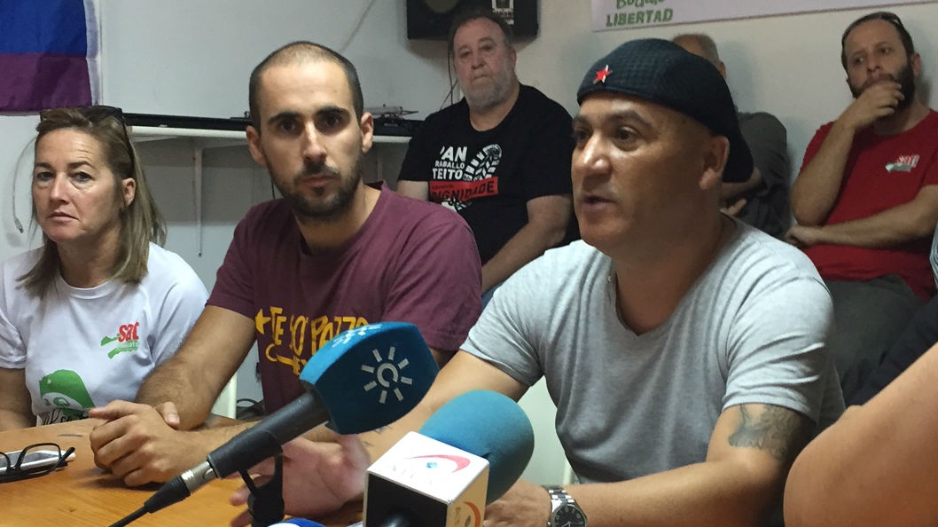 Andrés Bódalo, en la sede del Sindicato Andaluz de Trabajadores