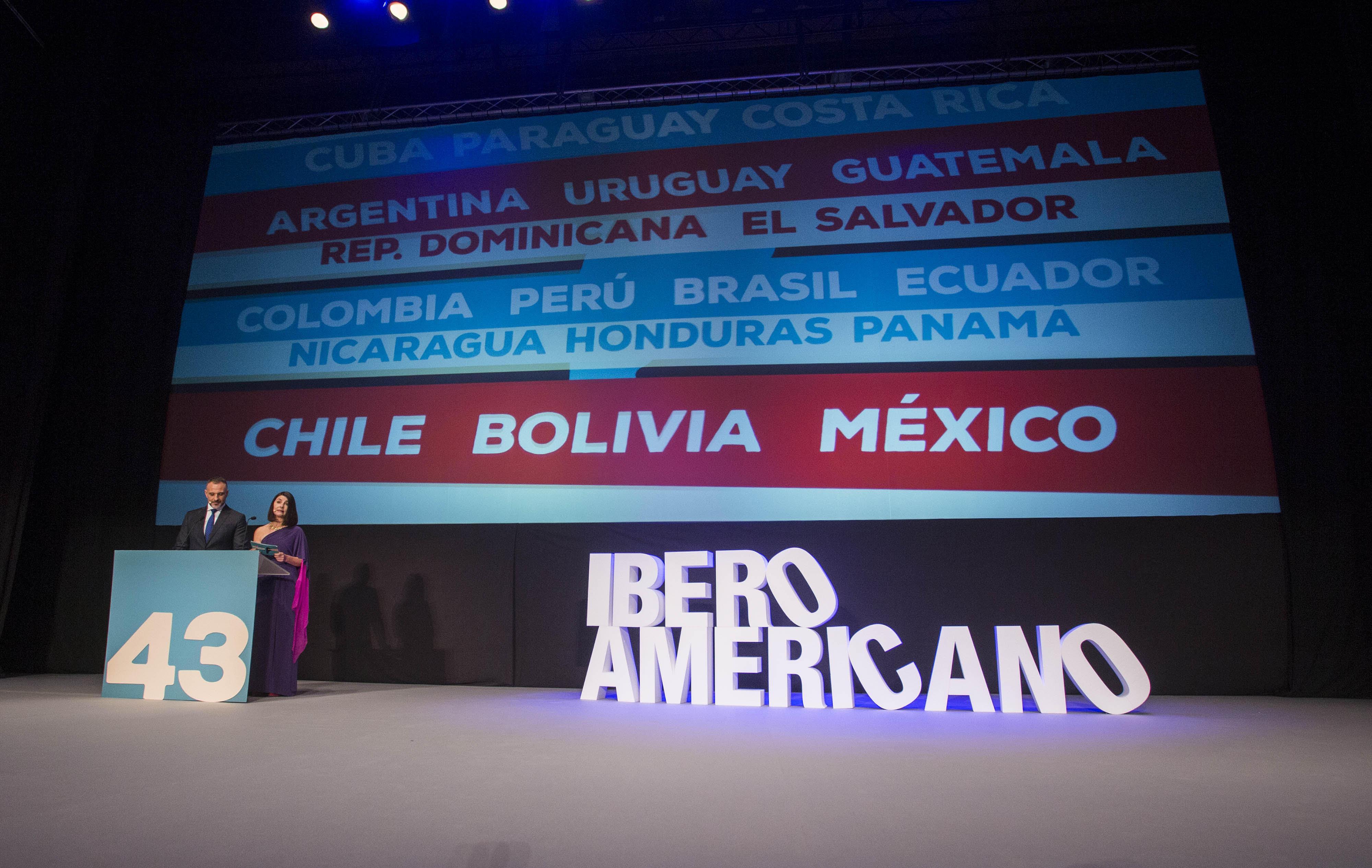 Un momento de la gala de apertura de la 43 edición del Festival de Cine Iberoamericano de Huelva