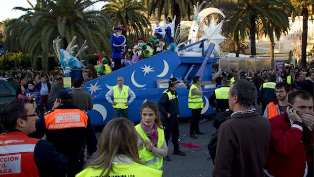 Carroza del atropello mortal de Málaga en 2013