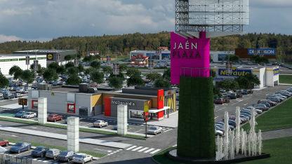 Maqueta del futuro centro comercial Jaén Plaza