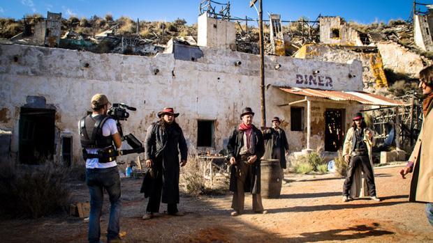 Rodaje de un cortometraje western en Cabo de Gata