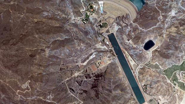 Vista aérea del canal de remo de Cuevas del Almanzora