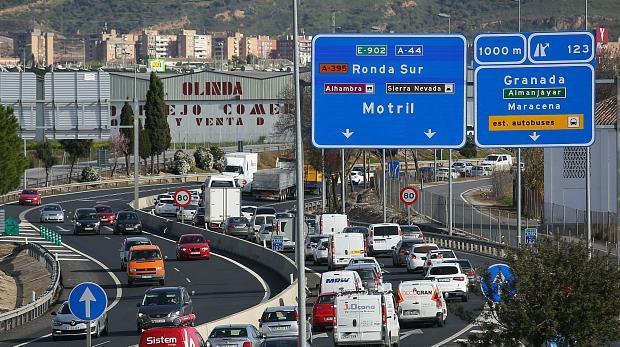 La autovía de Granada, uno de los principales focos de contaminación
