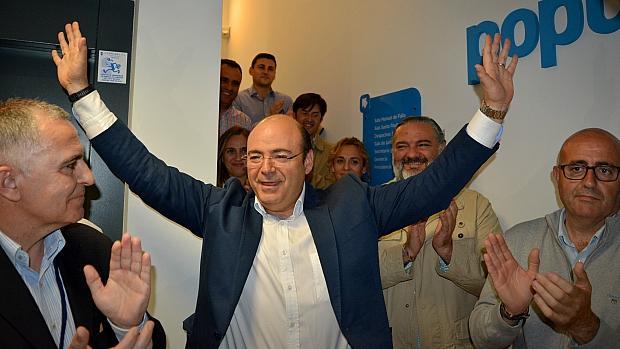 Sebastián Pérez, tras conocer su victoria en el congreso del PP de Granada