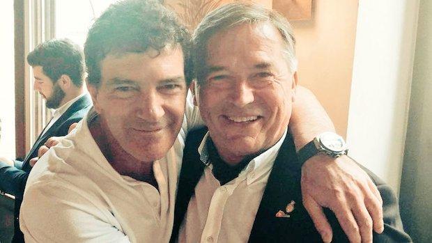 Antonio Banderas y José Cobos tras anunciar el acuerdo