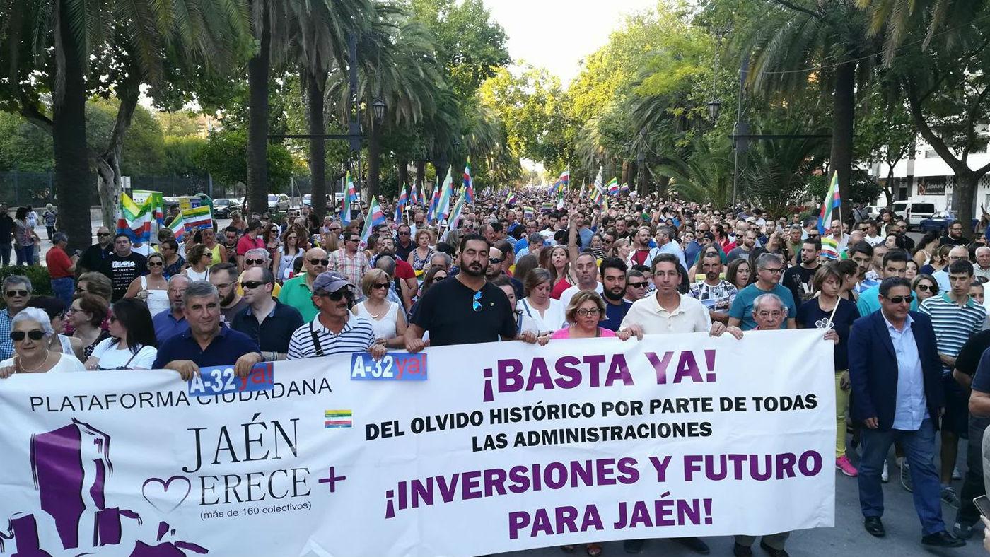 Cerca de 7.000 jiennenses participaron en la manifestación de julio en demanda de inversiones