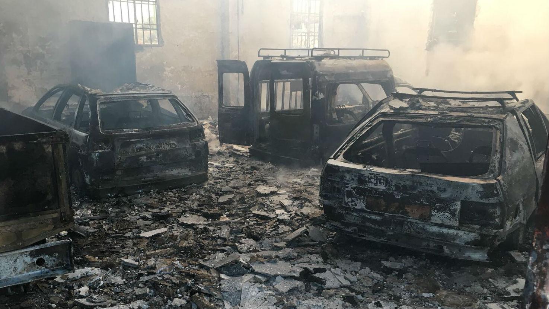 Un incendio intencionado devasta la concejalía de mantenimiento ...