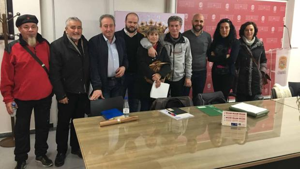 Los representantes de los colectivos en defensa de la memoria