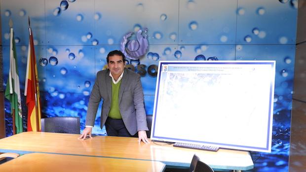 Manuel Cardeña en la presentación de los proyectos