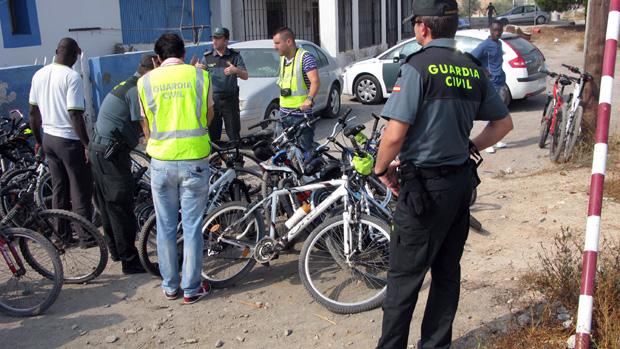 Agentes de la Guardia Civil recuperan bicicletas de otros robos
